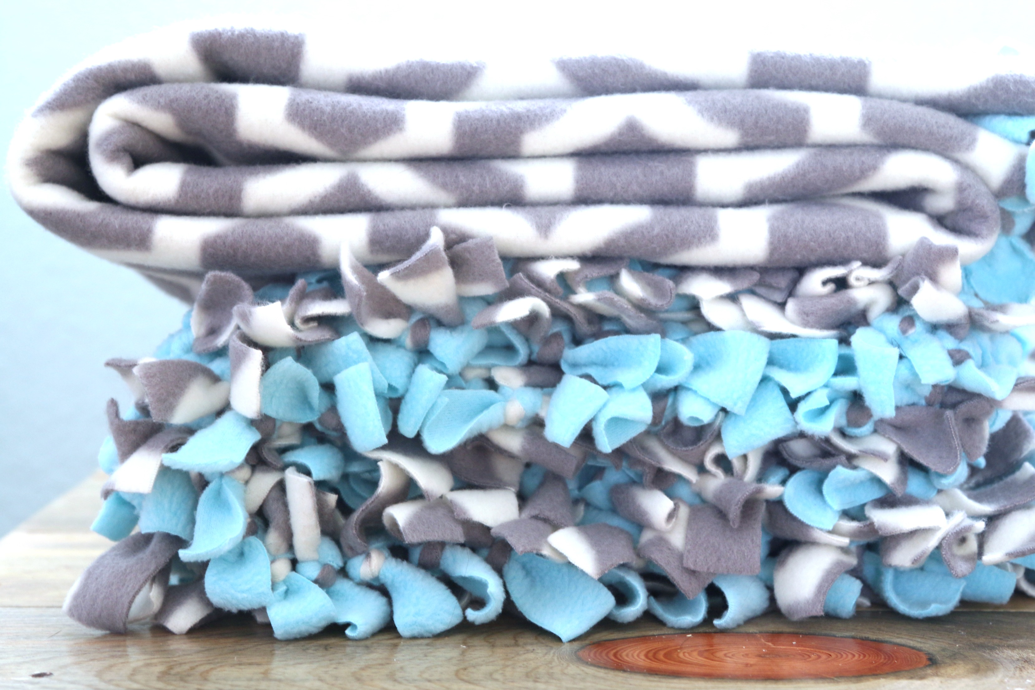 Tied Fleece Blanket A Tutorial A Fresh Squeezed Life