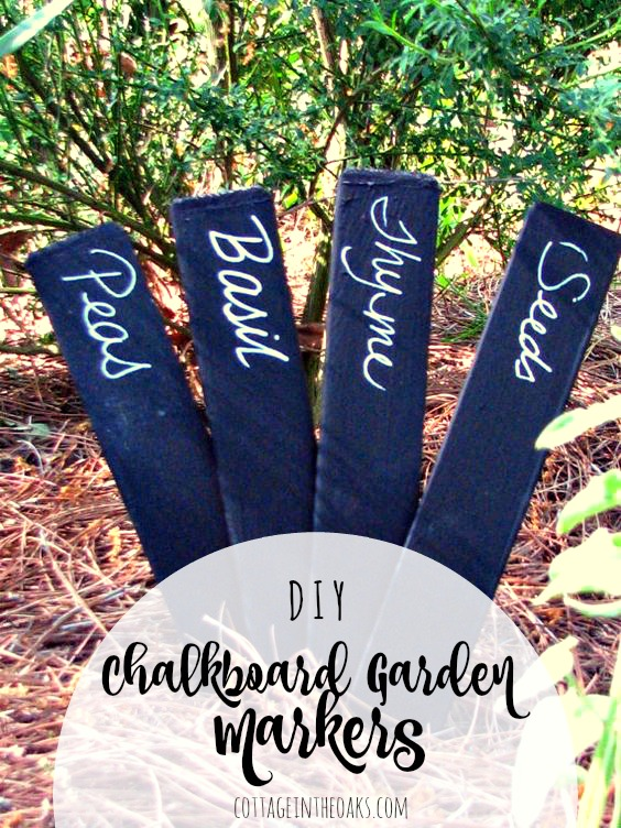 Chalkboard Garden Markers {Cottage in the Oaks}