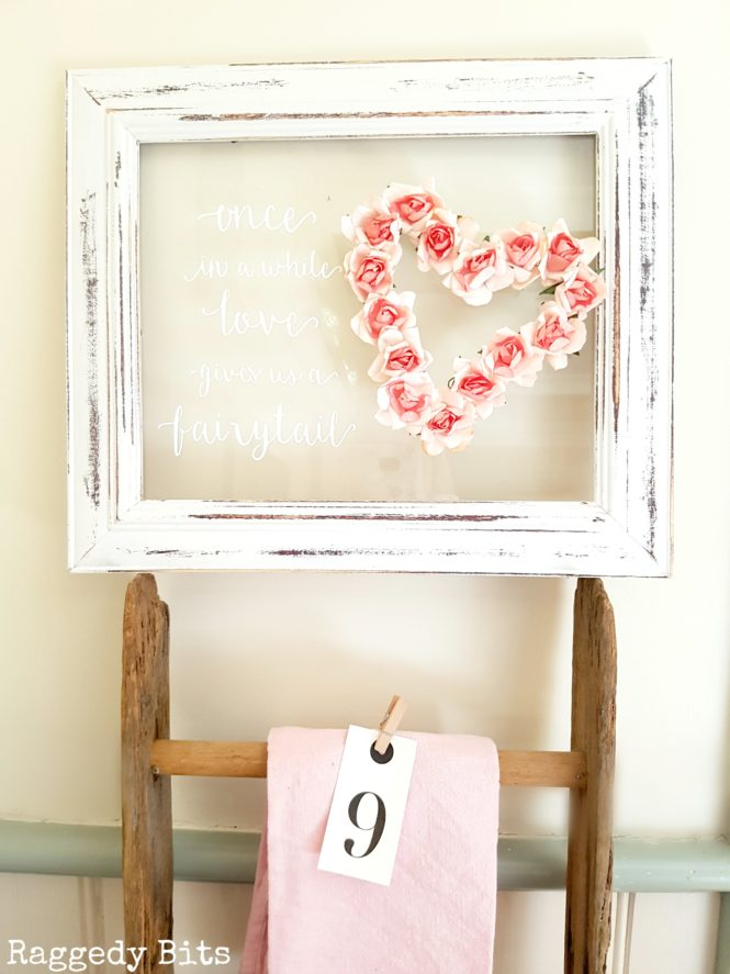 Farmhouse Paper Rose Frame {Raggedy Bits}