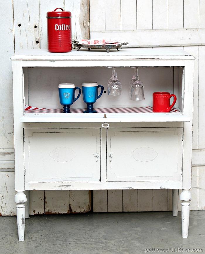 Beverage Cabinet Makeover {Petticoat Junktion}